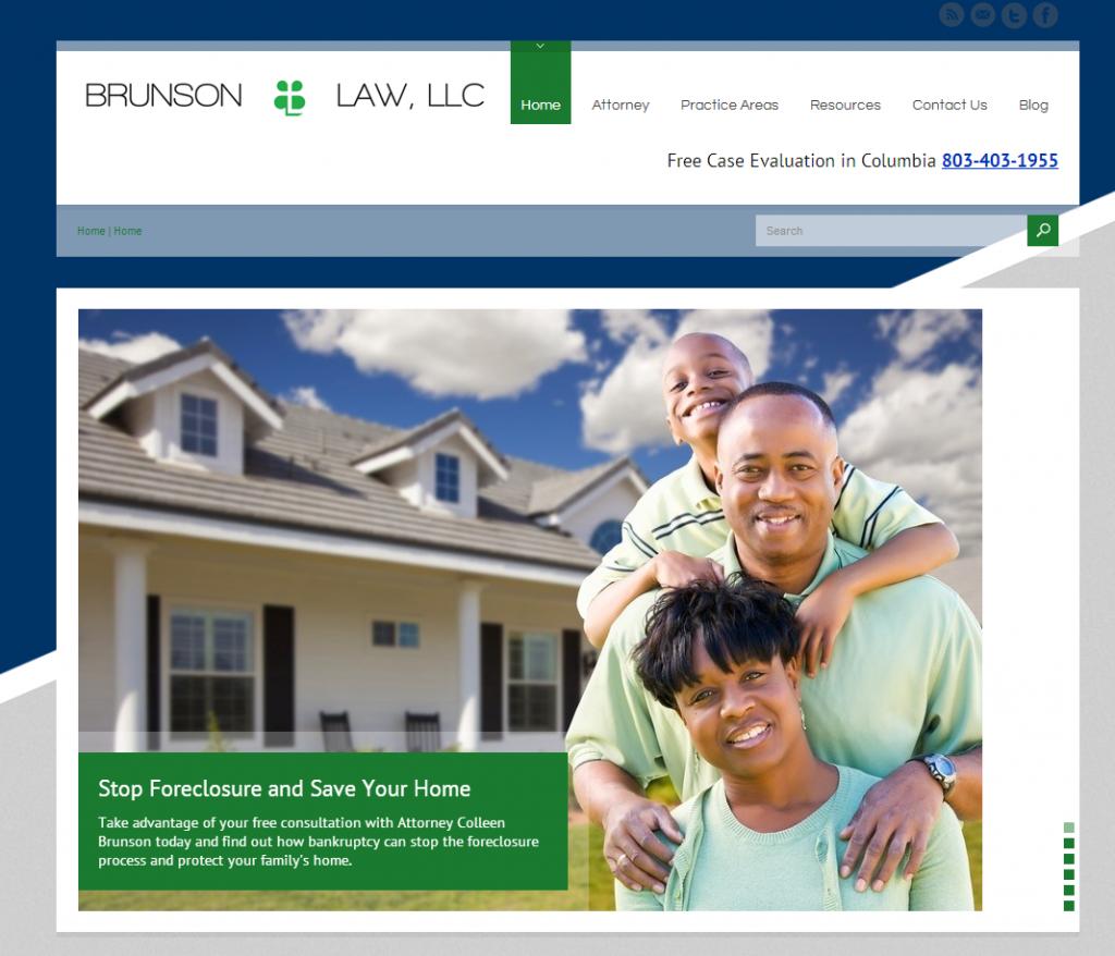 Brunson Law LLC Screen Grab